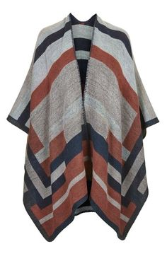 Topshop Colorblock Geometric Cape available at #Nordstrom