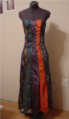 Necktie dress.   I'd like to try something like this one day, but shorter and with a straight hem at the bottom.