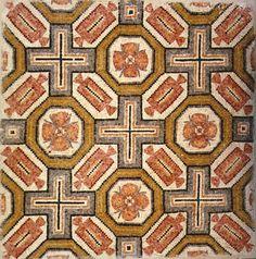 "Roman-Byzantine Mosaic Panel - PF.5307 Origin: Mediterranean Circa: 300 AD to 600 AD Dimensions: 44.875"" (114.0cm) high x 44.875"" (114.0cm) wide Collection: Classical Medium: Mosaic"