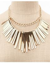 Just bought this pretty gold necklaces from Charlotte Russe