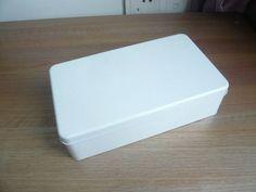 "8.9"" Hot Sale Blank White tin box/ 22.5X13X6CM/ Coffee Tea Storage Box/ Jewelry earing box Wholesale"