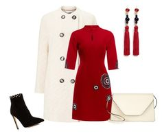 """""""Crimson n Cream"""" by sherlynd ❤ liked on Polyvore featuring Windsmoor, Raye, Kenneth Jay Lane and Valextra"""