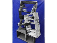 Upcycled bookcase designed and created by Ashleigh Barnes