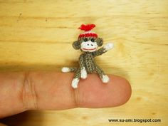 mini sock monkey! you know you want one too!