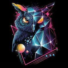 """""""Cosmic Night Owl"""" #nightowl #owl #80s"""