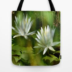 Water lily tote