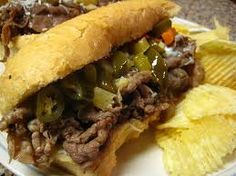 CrockPot Po' Boys (or Italian Beef) Sandwiches. ~~~~ This dish smelled wonderful while cooking in the crockpot all day. It is a meal all by itself, and just a salad on the side is perfect. Crock Pot Slow Cooker, Crock Pot Cooking, Slow Cooker Recipes, Crockpot Recipes, Cooking Recipes, Cajun Recipes, Cajun Cooking, Easy Recipes, Italian Beef Sandwiches