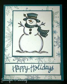 Frosty Sparkles by Krafty Kitty - Cards and Paper Crafts at Splitcoaststampers