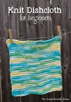 Knit Dishcloth for beginners