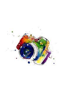 camera...watercolor print/ *click*