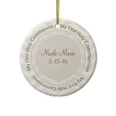 Chevron My First Holy Communion Favor Ornaments