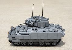 M2A2 Bradley Fighting Vehicle by D-Town Cracka, via Flickr Bradley Fighting Vehicle, Lego Army, Lego Boards, Amazing Lego Creations, Lego Store, Lego Mechs, Lego Design, Lego Models, Lego Projects