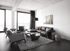 Moderne Wohnideen Von BoConcept In Schwarz Weiss Wohnzimmereinrichtung Livingroom Home
