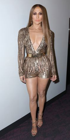 All of Jennifer Lopez's Sizzling Looks from the 17th Annual Latin Grammy Awards - Taking the Plunge from InStyle.com
