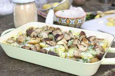 Teglia porcini e patate al forno