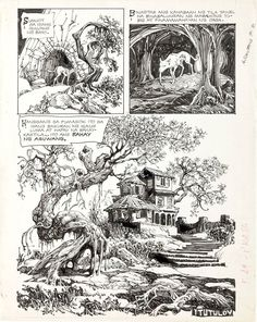 From Heritage- a gorgeous page by Alfredo Alcala.