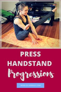 Press Handstand Progressions -   Are you on the #QuestForThePress? Is a press handstand on your list of goals?  This post has drills and conditioning exercises which help you find that elusive floating feeling, and work the right body mechanics of blocking from the shoulders, and engaging the core. Use these drills to help set a strong foundation for your press handstand practice. Also, consider incorporating the conditioning at the end of this post to strengthen your pressing muscles!