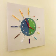 Interesting idea but I would switch the beads to represent the minutes, rather than hours as that tends to be where the dyslexic child has most difficulty.
