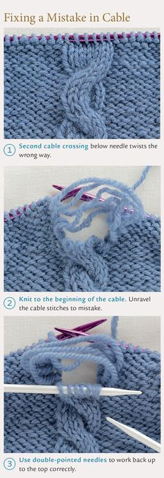 How to Fix Common Knitting Mistakes - DIY - MOTHER EARTH NEWS
