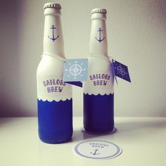 """Beautiful beer label """"Sailors Brew"""" by graphic designer student Torje Holm, via Behance Cool Packaging, Beverage Packaging, Bottle Packaging, Brand Packaging, Displays, Beer Brands, Label Design, Package Design, Graphic Design"""
