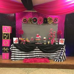You don't want to miss Princess Ny'omi's Kate Spade baby shower. The dessert table is so stylish!! See more party ideas and share yours at CatchMyParty.com