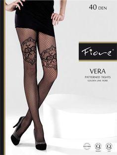 Fiore Vera -40 Denier Thickness  #Fiore #PatternedPantyhose