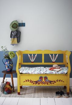 Colourful folk-style entrance hall | Joanna Henderson