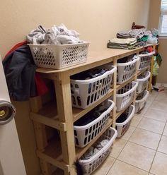 Ideas Bedroom Dresser Organization Clutter Laundry Baskets For 2019 Laundry Basket Dresser, Laundry Basket Organization, Laundry Room Organization, Laundry Hamper, Laundry Room Design, Laundry Rooms, Clothing Organization, Laundry Organizer Diy, Dresser Organization