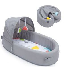 Lulyboo Portable Baby Bassinet To-Go Infant Travel Bed - Gray Lulyboo Baby Lounge - Gray Baby Travel Bed, Travel Cot, Portable Baby Bed, Baby Nest, Baby Bassinet, Baby Development, Traveling With Baby, Nursery Furniture, Baby Essentials