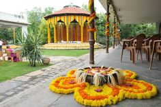 Awesome Floral wedding decor by 3 Production Wedding Planners in Bangalore.