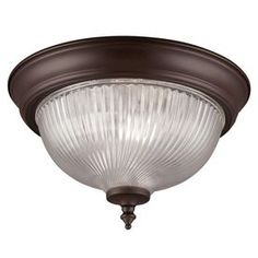 Project Source 11-in W Oil-Rubbed Bronze Ceiling Flush Mount Replace hall and BR light