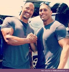 The Rock's stunt double is also his real-life cousin (Tanoai Reed)