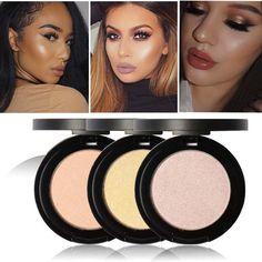 Focallure Marca Polvos Faciales Maquillaje Impermeable Minerals Shimmer Abrillantador Contorno Polvo de Brillo Kit Resaltador Maquillaje Paletas
