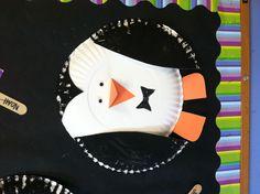 Letter p preschool craft paper plate pinguine