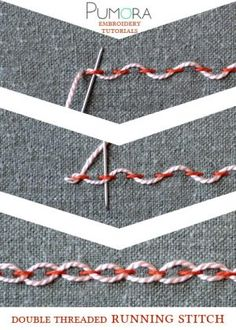 double threaded running stitch tutorial