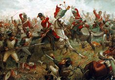 Sgt Ewart of the Royal Scots Greys takes the Eagle at Waterloo 18th June 1815