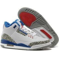 9d61e6a1841461 Cheap Jordan 3 Shoes 2012 Men Woollen Blanket White Blue Red