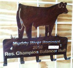 Metal cutout award by SJ Cattle & Creations
