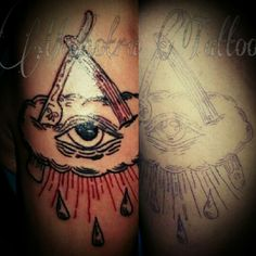 Old scholl Tattoo - eye - by: MALHOTRA TATTOO#WIL&MALHOTRA#wildan_malhotra#tattoo#PaguyubanTattooBandung#IndonesianSubculture