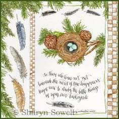 Sharyn Sowell ink and watercolor in nature journal