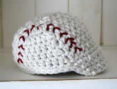Photo Prop Baseball Beanie with brim by cottoncorner on Etsy, $19.50