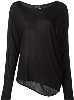 Lanvin Long Sleeved Shirt in Black - Lyst