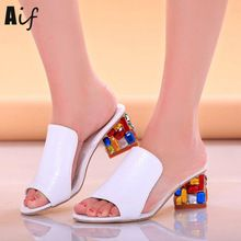 Cheap women slippers, Buy Quality slippers toe directly from China slippers women Suppliers: Rhinestone Heel Shoes Peep Toe Women's slippers Sexy Open Toe Shoes Wedge Non-slip Women's High Heel slippers Flip Flop Plus 41 Peep Toe Heels, Stiletto Heels, Shoes Heels, Dress Shoes, Shoes Uk, Wedge Shoes, Chunky High Heels, Thick Heels, Rhinestone Sandals