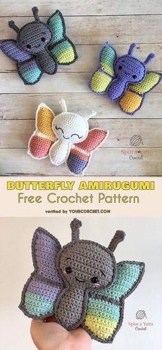 Butterfly Amigurumi Free Crochet Pattern #freecrochetpatterns #amigurumipattern #amigurumibutterfly