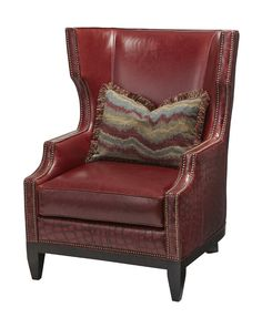 Genial Massoud Refined Red Rustic Chair Western Accent Chairs   Outside And Trim  On Chair In Exotic