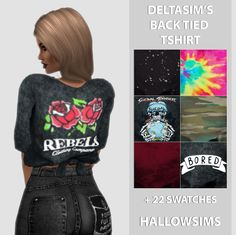 DeltaSim's Back Tied T-shirt | Hallow-Sims.