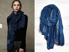 Scarves...love this color!  I wear scarves all the time! (have one on now!)
