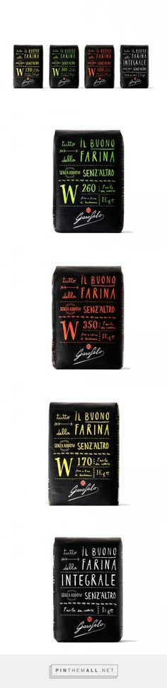 Garofalo via The Dieline - Branding & Packaging curated by Packaging Diva PD. Garofalo worked with Angelini Design for the packaging and identity of its range of premium flours. Lettering Design, Branding Design, Inspiration Wand, Web Design Awards, Pretty Packaging, Packaging Design Inspiration, Brand Packaging, Advertising Design, Reign Bash