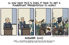 How many Ph.D.s does it take to get a powerpoint presentation to work?