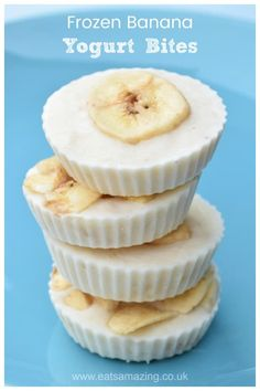 You need just 3 ingredients to make these quick and easy banana frozen yogurt bi. You need just 3 ingredients to make these quick and easy banana frozen yogurt bites - this fun healthy snack rec. Healthy Desayunos, Cheap Healthy Snacks, Healthy Drinks, Nutritious Snacks, Healthy Yogurt, Healthy Easy Recipies, Banana Recipes Quick, Fun Food For Kids, Easy Recipes For Kids